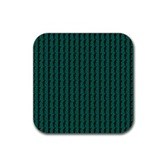 Golf Golfer Background Silhouette Rubber Square Coaster (4 pack)