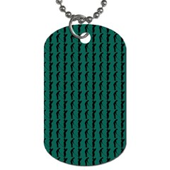 Golf Golfer Background Silhouette Dog Tag (Two Sides)