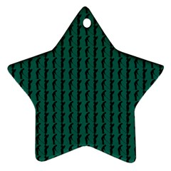 Golf Golfer Background Silhouette Star Ornament (Two Sides)