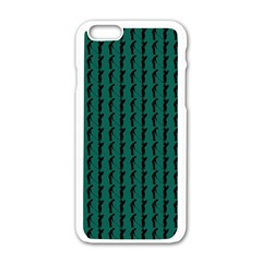 Golf Golfer Background Silhouette Apple Iphone 6/6s White Enamel Case