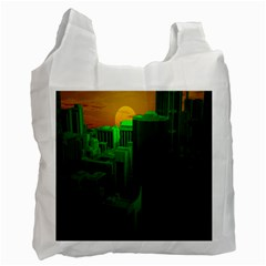 Green Building City Night Recycle Bag (One Side)
