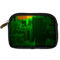 Green Building City Night Digital Camera Cases
