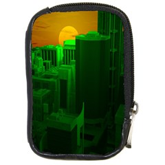 Green Building City Night Compact Camera Cases