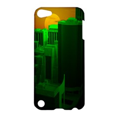 Green Building City Night Apple iPod Touch 5 Hardshell Case