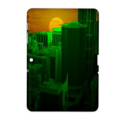 Green Building City Night Samsung Galaxy Tab 2 (10 1 ) P5100 Hardshell Case