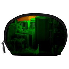 Green Building City Night Accessory Pouches (Large)