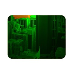 Green Building City Night Double Sided Flano Blanket (mini)
