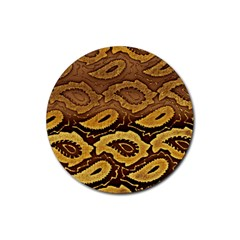 Golden Patterned Paper Rubber Round Coaster (4 pack)