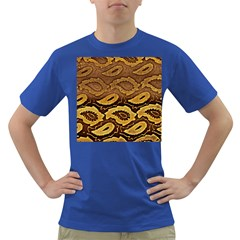 Golden Patterned Paper Dark T Shirt