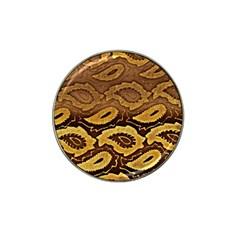 Golden Patterned Paper Hat Clip Ball Marker (4 pack)