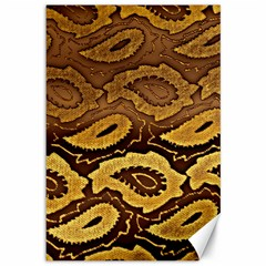 Golden Patterned Paper Canvas 12  x 18