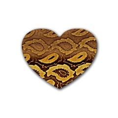 Golden Patterned Paper Heart Coaster (4 pack)