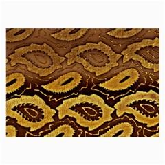 Golden Patterned Paper Large Glasses Cloth (2-Side)