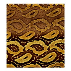Golden Patterned Paper Shower Curtain 66  x 72  (Large)