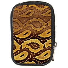 Golden Patterned Paper Compact Camera Cases
