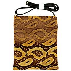 Golden Patterned Paper Shoulder Sling Bags