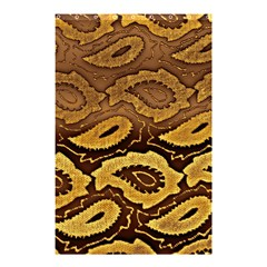 Golden Patterned Paper Shower Curtain 48  x 72  (Small)