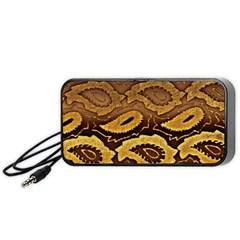 Golden Patterned Paper Portable Speaker (Black)