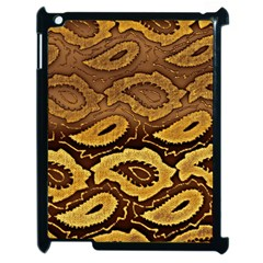 Golden Patterned Paper Apple Ipad 2 Case (black)