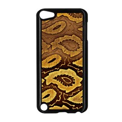 Golden Patterned Paper Apple Ipod Touch 5 Case (black)