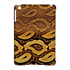 Golden Patterned Paper Apple Ipad Mini Hardshell Case (compatible With Smart Cover)