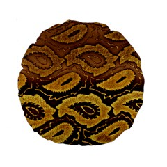 Golden Patterned Paper Standard 15  Premium Round Cushions