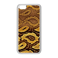 Golden Patterned Paper Apple iPhone 5C Seamless Case (White)