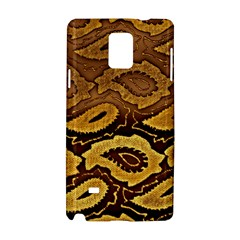 Golden Patterned Paper Samsung Galaxy Note 4 Hardshell Case