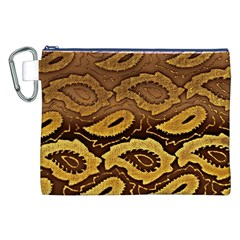 Golden Patterned Paper Canvas Cosmetic Bag (XXL)