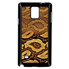 Golden Patterned Paper Samsung Galaxy Note 4 Case (Black)