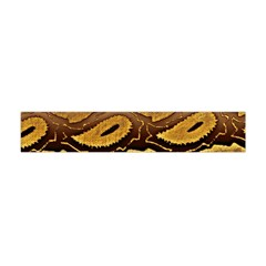 Golden Patterned Paper Flano Scarf (mini)