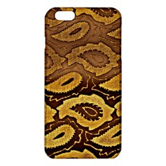 Golden Patterned Paper Iphone 6 Plus/6s Plus Tpu Case