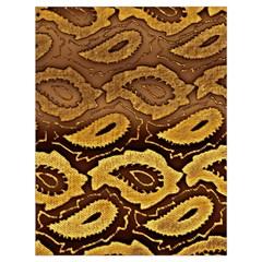 Golden Patterned Paper Drawstring Bag (Large)
