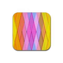 Graphics Colorful Color Wallpaper Rubber Square Coaster (4 pack)