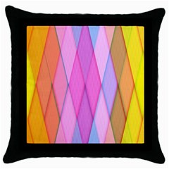 Graphics Colorful Color Wallpaper Throw Pillow Case (Black)