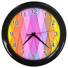 Graphics Colorful Color Wallpaper Wall Clocks (Black)
