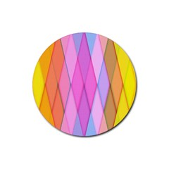 Graphics Colorful Color Wallpaper Rubber Coaster (Round)