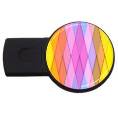 Graphics Colorful Color Wallpaper USB Flash Drive Round (2 GB)