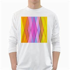 Graphics Colorful Color Wallpaper White Long Sleeve T-Shirts