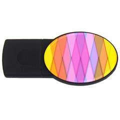 Graphics Colorful Color Wallpaper Usb Flash Drive Oval (4 Gb)