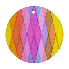 Graphics Colorful Color Wallpaper Round Ornament (two Sides)