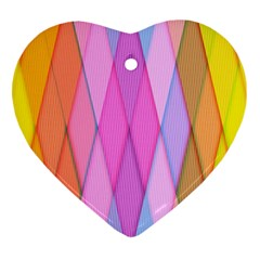 Graphics Colorful Color Wallpaper Heart Ornament (Two Sides)