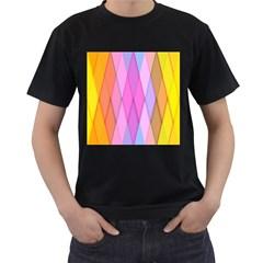 Graphics Colorful Color Wallpaper Men s T-Shirt (Black)