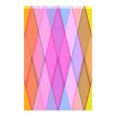 Graphics Colorful Color Wallpaper Shower Curtain 48  x 72  (Small)