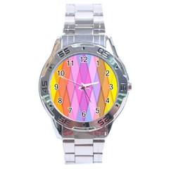 Graphics Colorful Color Wallpaper Stainless Steel Analogue Watch