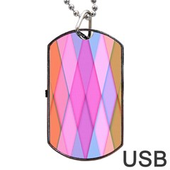 Graphics Colorful Color Wallpaper Dog Tag USB Flash (Two Sides)