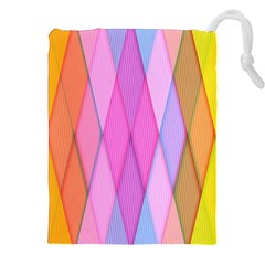 Graphics Colorful Color Wallpaper Drawstring Pouches (XXL)