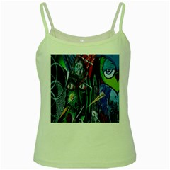 Graffiti Art Urban Design Paint Green Spaghetti Tank
