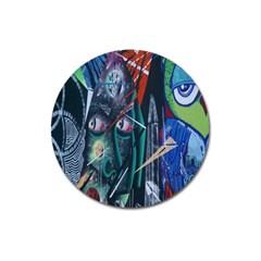 Graffiti Art Urban Design Paint Magnet 3  (Round)