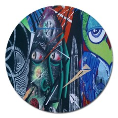 Graffiti Art Urban Design Paint Magnet 5  (Round)